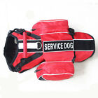 SERVICE TRAINING Dog Harness Vest with Removable Saddle Bags + label Patches