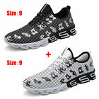 2 Pcs/Set Men's Fashion Running Shoes Outdoor Casual Breathable Sport Shoes USPS