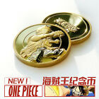 ONE PIECE Monkey D. Luffy Coin Bas Relief Gold plating Brass Commemorative Gold