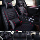 Leather Full Set Auto Car Seat Cover Front Rear Back Cushion Cover Universa...