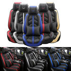 Leather Full Set Auto Car Seat Cover Front Rear Back Cushion Cover Universal Fit $119.96 USD on eBay