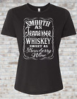 Smooth As Tennessee Whiskey Sweet As Strawberry Wine - Country music shirt