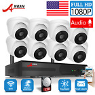 ANRAN 1080P Outdoor Home Surveillance Security Camera System 8CH Audio 2TB HDD