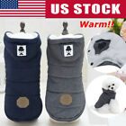 S~XXL Pet Dog Winter Cotton Warm Padded Hooded Coat Puppy Jacket Sweater Apparel