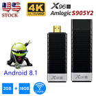 X96S 4K 3D Smart TV Box Mini Stick Android 8.1 DDR4 2+16G S905Y2 Quad Core WIFI