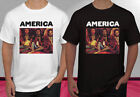 America America Album Rock Band Black White Men's T-shirt S-2XL image