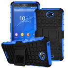 For Sony Shockproof Rubber Armor Protective Phone Case Hybird Tough Stand Cover