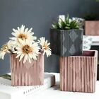 Silicone Flowerpot Mold Square Striated Pattern Planter Nordic Modern Pot Mould image