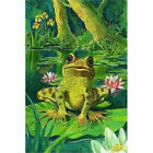 Full Drill Diamond Painting Kit Like Cross Stitch Frog in the Lotus Pool ZB010D $17.68 USD on eBay