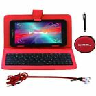 """Linsay 7"""" New Quad Core Tablet Super Bundle With Blue Keyboard, Earphones And Pe"""