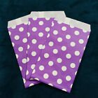 Purple Small Paper Treat Bags 3x5 Polka Dots Flat Food Retail Cute Party Favors