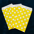 Yellow Small Paper Treat Bags 3x5 Polka Dots Flat Food Retail Cute Party Favors
