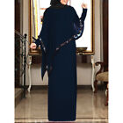 Vintage Women Abaya Cape Long Maxi Dress Muslim Cloak Robe Kaftan Islamic Jilbab