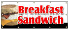 BREAKFAST SANDWICH BANNER SIGN sausage bacon bagel croissant cheese muffin
