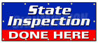 STATE INSPECTION DONE HERE BANNER SIGN law inspector