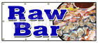 RAW BAR BANNER SIGN clams oysters beer fresh cold sushi cocktails