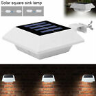 10 Pack Led Solar Gutter Fence Lights Outdoor Outside Garden Wall Pathway Lamp