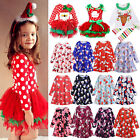 Toddler Kid Baby Girls Christmas Santa Tutu Dresses Party Festival Long Dresses
