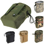 Tactical Molle Drawstring Magazine Dump Drop Pouch Recycle Waist Pack Ammo Bags