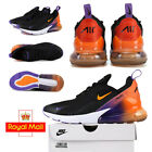 New Unisex Air Max 270 Black orange purple Trainers Brand New in Box