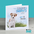 Jack Russell Wire Haired Fathers Day Card from the Dog, Best Dog Dad Daddy