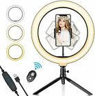Crenova Ring Light Kit Dimmable LED Live Streaming Selfie For Youtube Video