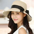 Kyпить USA Women Floppy Sun Beach Straw Hats Wide Brim Packable Summer Cap   на еВаy.соm