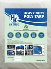 9 Mil Heavy Duty Poly Tarp 150 GSM All Purpose Canopy Reinforced Tarpaulin White