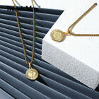 Gold Plated Initial Letter Pendant Necklace Stainless Steel 18-24INCH Box Chain image