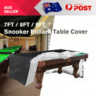 7/8/9ft Pool Snooker Billiard Table Cover Polyester Waterproof Dust Cap Outdoor $32.19 AUD on eBay