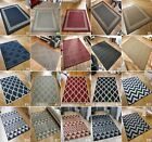 SMALL - LARGE FLATWEAVE CONSERVATORY KITCHEN PATIO NON-SLIP GEOMETRIC RUGS MATS