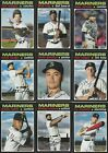 SEATTLE MARINERS - PICK YOUR MLB-LICENSED TOPPS/BOWMAN TEAM SET 2013-2020