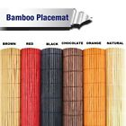 4pc Bamboo Placemats Rectangle Kitchen Dining Table Place Mats Decor