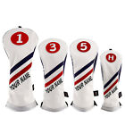 Personalized Golf Wood Headcovers Custom Made Driver/Fairway Woods/Hybrid Covers