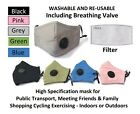 5x Face Masks + Valve Mixed Colours + 10x Filter Refill Washable Re-usable Cloth