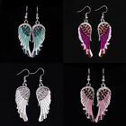 Angel Wing Dangle Earrings Crystal Rhinestone Fashion Bridal Party Jewelry New