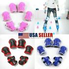 Set of 6 Children Elbow Wrist Knee Pads Sport Safety Protective Gear Guard Kids image