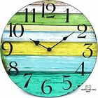 14 Silent Large Wall Clock Battery Operated Non Ticking Vintage Wood Wall Clock