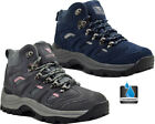 Womens Leather Waterproof Hiking Walking Ankle Boots Comfy Lightweight Shoes Sz
