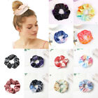 Rainbow Soft Velvet Scrunchies Tie-dye Hair Ring Rubber Band Elastic Hair Rope