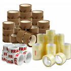 PACKING PARCEL 2 4 6 12 18 TAPE BROWN CLEAR FRAGILE 48mm x 66m ROLLS BOX SEALING