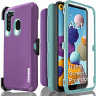 Samsung Galaxy A21 Case COVRWAE 3 layer Armor Screen Protector Holster Belt Clip