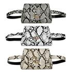 Snake Print Sports Shoulder Women Waist Fanny Packs Pu Leather Chest Bags #8y