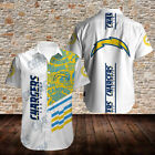 Los Angeles Chargers Mens Football Shirt Casual Short Sleeve Button Down Tops $36.76 CAD on eBay