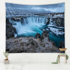 1x Fireplace Grotto Wall Hanging Tapestry Bedspread Blanket Backdrop Decor
