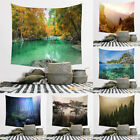 Forest River Bohemian Landscape Wall Hanging Tapestry Blanket Shawl Backdrop New