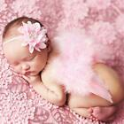 1Set Cute Angel Baby Feather Newborn Wings Costume Headband Photography Props