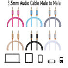 New Alloy Car Accessories 1.2M Audio Cable Weave Cord AUX Line Male To Male