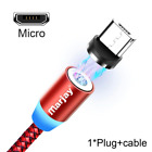 Magnetic USB Cable For iPhone Android Fast Charging Micro USB Type C IOS