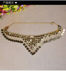New Belly Dance Costume Coins Tribal Hip Scarf Belt Gold/Silver 2 colors